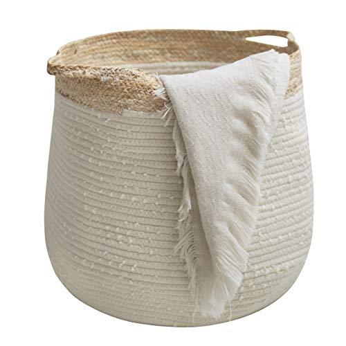 LA JOLIE MUSE Rope Basket Woven Storage Basket - Laundry Basket Large...