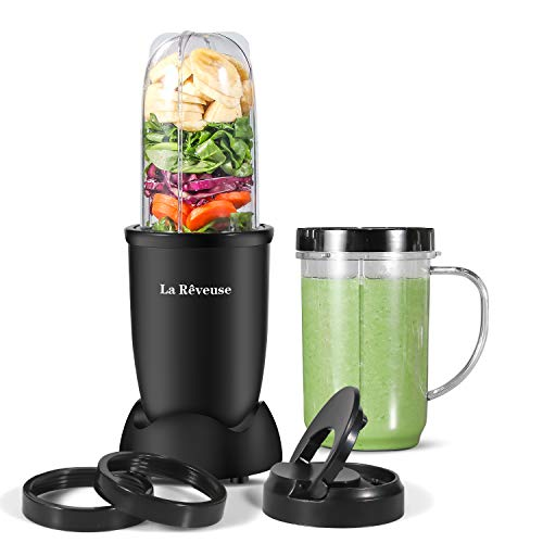 La Reveuse Personal Size Blender 250 Watts Power for Shakes Smoothies...