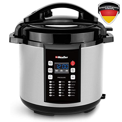 Pressure Cooker Instant Crock 10-in-1 Pot Pro Series 19 Program 6Q...