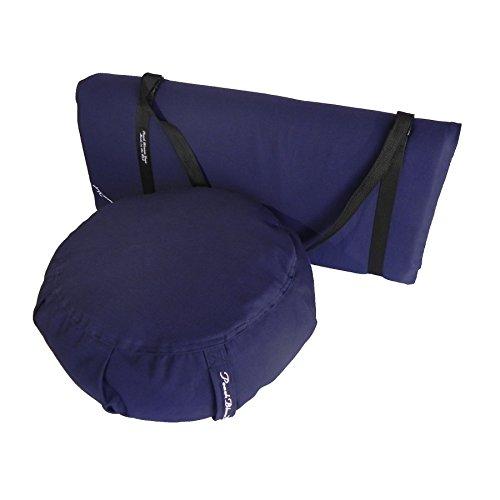 3 Piece Restorative Yoga Set includes Zafu Meditation Pillow Buckwheat...