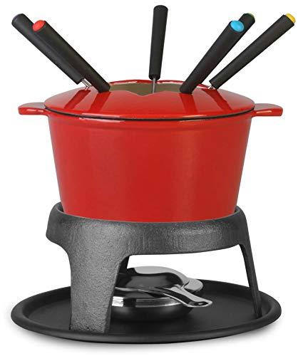 Artestia Cast Iron Fondue Pot Set, Cast Iron Chocolate Fondue Pot Set...