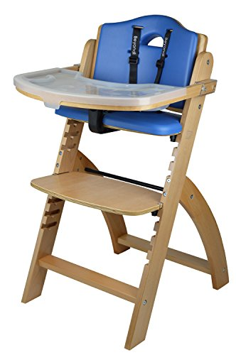 Abiie Beyond Wooden High Chair with Tray. The Perfect Adjustable Baby...
