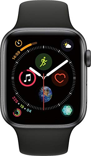 Apple Watch Series 4 (GPS, 44MM) - Space Gray Aluminum Case with Black...