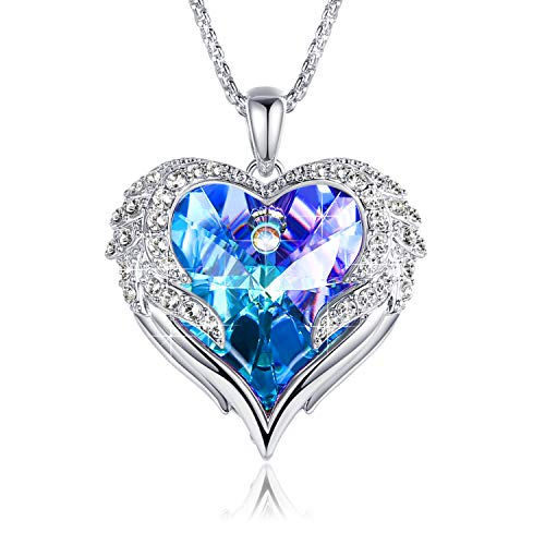 Love Heart Necklaces for Women Mothers Day Gifts for Mom Wife Crystals...
