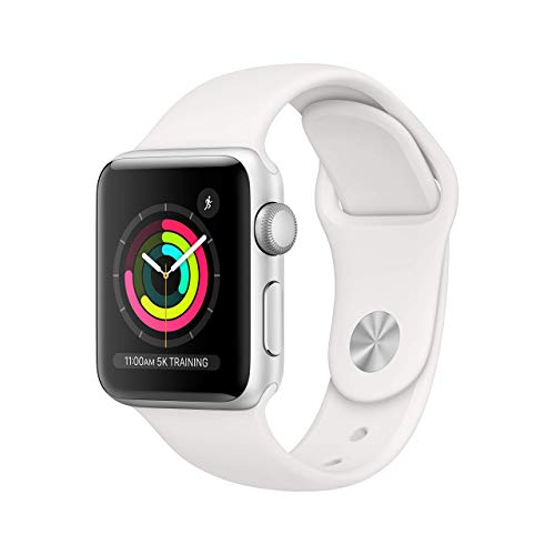 Apple Watch Series 3 (GPS, 38MM) - Silver Aluminum Case with White...