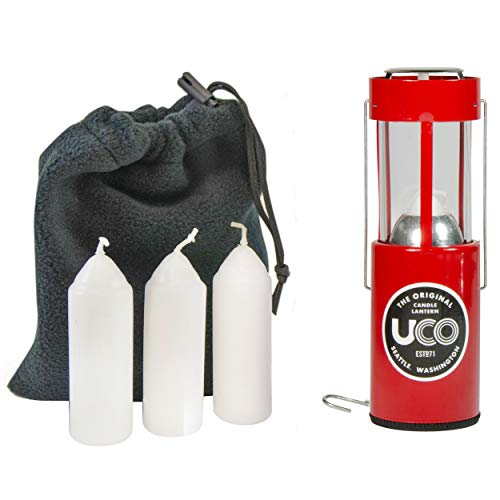 UCO Original Candle Lantern Value Pack with 3 Candles and Storage Bag,...