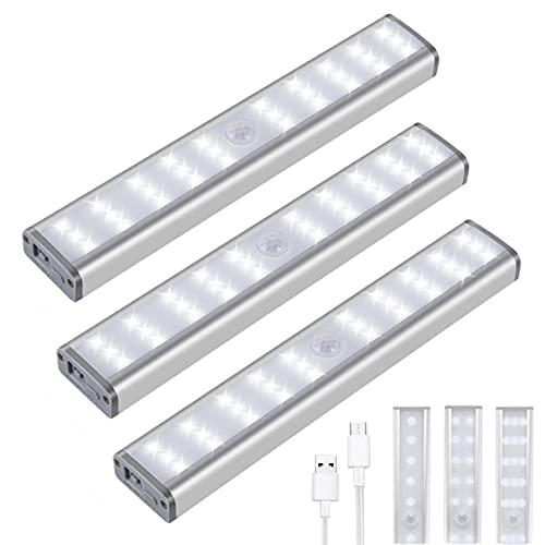Motion Sensor Closet Lights, 30 LED Dimmable Wireless Under Cabinet...