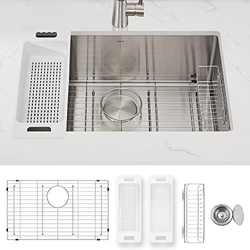 ZUHNE Modena Undermount Kitchen Sink, 16-Gauge Stainless Steel...