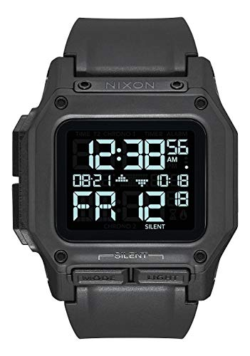 NIXON Regulus A1180 - All Black - 100m Water Resistant Men's Digital...