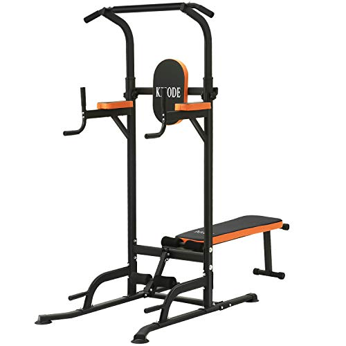 Kicode Power Tower with Bench Pull Up Bar Dip Station, Home Gym...