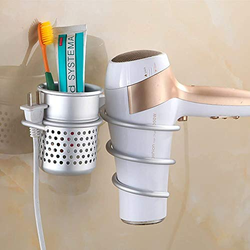Hair Dryer Holder, Wall Mount Organizer Shelf Rack for Bathroom, Wall...