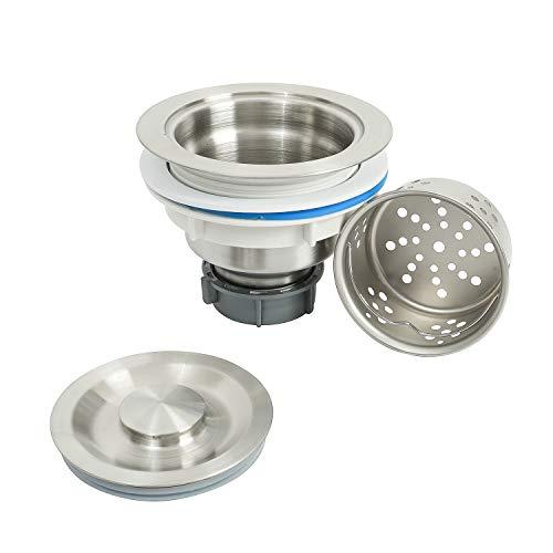 LQS Kitchen Sink Drain Strainer Assembly, Sink drain 304 Stainless...