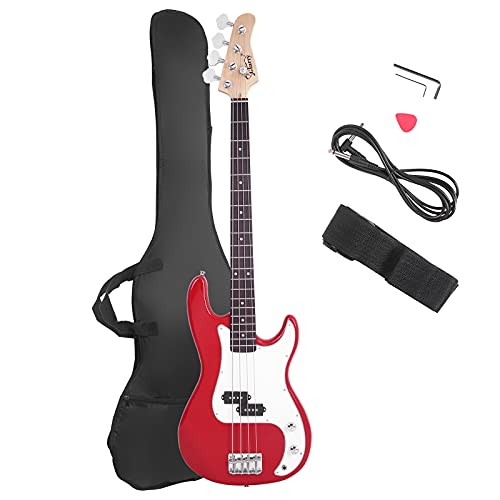 Glarry Electric Bass Guitar Full Size 4 String Rosewood Basswood Fire...