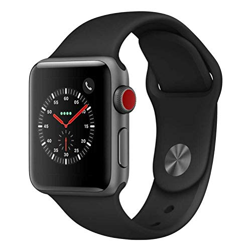Apple Watch Series 3 (GPS + Cellular, 42MM) - Space Gray Aluminum Case...