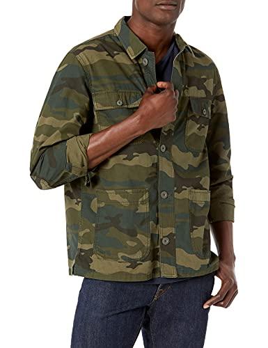 Amazon Essentials Men's Shirt Jacket, Camo, Large