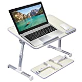 [Large Size] Neetto TB101L Adjustable Laptop Bed Table, Portable...