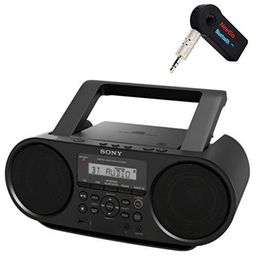 Sony Bluetooth Portable Cd Player Stereo Sound System Bundle/Digital...