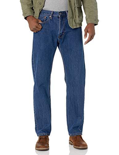 Levi's Men's 505 Regular Fit Jeans, Dark Stonewash, 34W x 30L