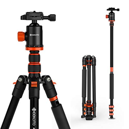 Geekoto Camera Tripod, Tripod for DSLR, Aluminum Tripod and Monopod...