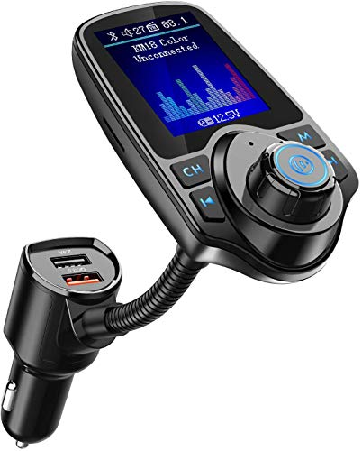 Nulaxy Wireless in-Car Bluetooth FM Transmitter Radio Adapter Car...