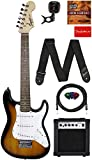 Fender Squier 3/4 Size Kids Mini Strat Electric Guitar Learn-to-Play...