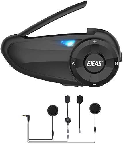 EJEAS Q7 Motorcycle Bluetooth Intercom with FM Radio, Helmet Bluetooth...