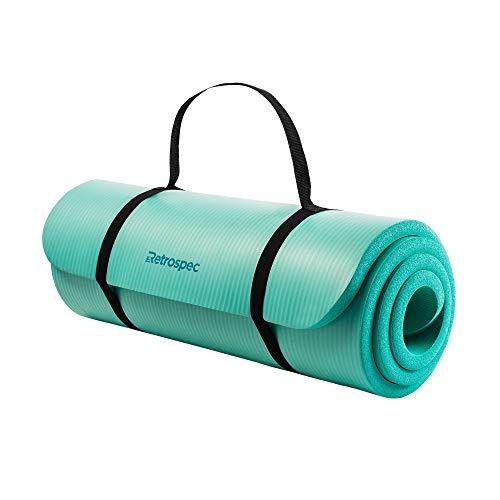 Retrospec Solana Yoga Mat 1' Thick w/Nylon Strap for Men & Women - Non...