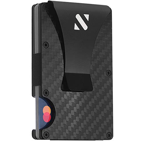 RFID Carbon Fiber Wallets for Men - Minimalist Aluminum Wallet for Men...