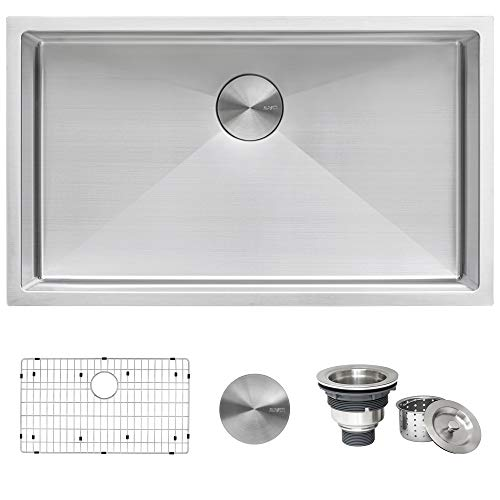 Ruvati 32-inch Undermount 16 Gauge Tight Radius Kitchen Sink Stainless...
