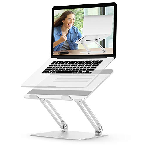 Adjustable Laptop Stand, EPN Laptop Riser with Heat-Vent to Elevate...
