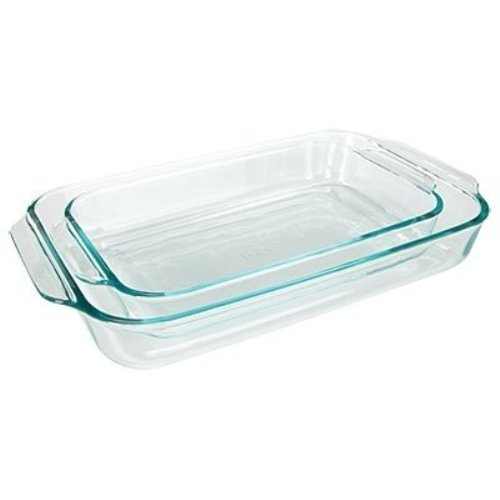 Pyrex Basics Clear Oblong Glass Baking Dishes, 2 Piece Value-plus Pack...