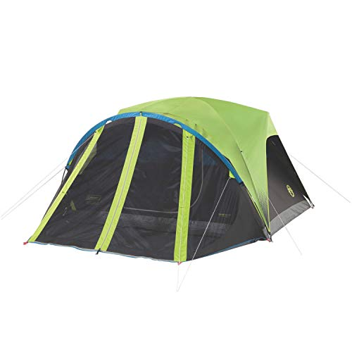 Coleman Camping Tent with Screen Room | 4 Person Carlsbad Dark Room...