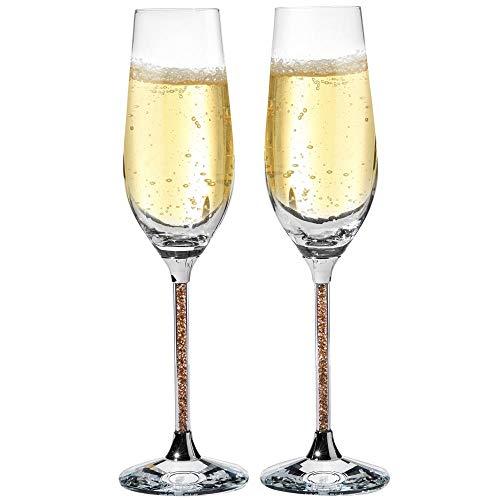 Matashi Champagne Flutes with Lead Free Titanium Sparkling Crystal...