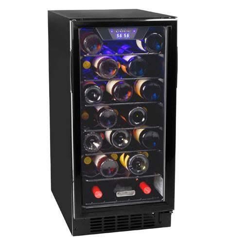 Koldfront 30 Bottle Built-In Single Zone Wine Cooler - Black
