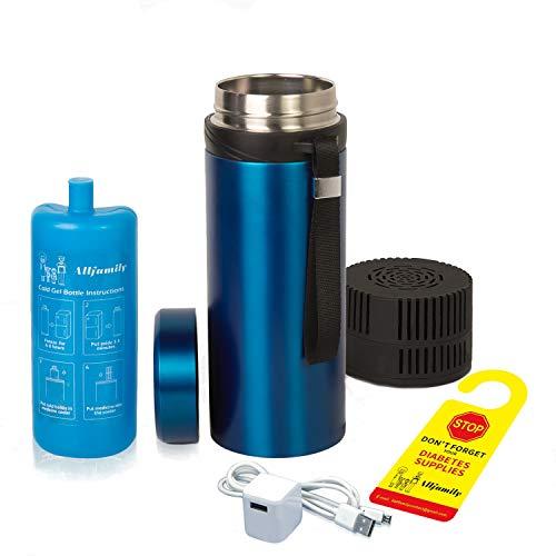 4ALLFAMILY 72 Hours 7 Pen Medical Insulin Cooler Travel CASE USB...