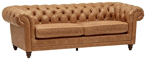 Amazon Brand – Stone & Beam Bradbury Chesterfield Tufted Leather...