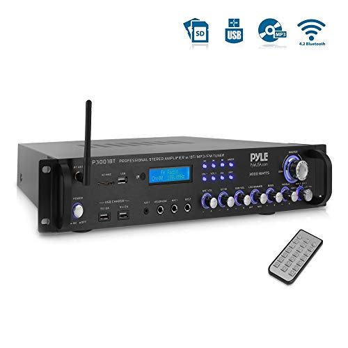 Pyle Bluetooth Hybrid Amplifier Receiver - Home Theater Pre-Amplifier...