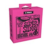 Ernie Ball Super Slinky 3-Pack Electric Guitar Strings (P03223)