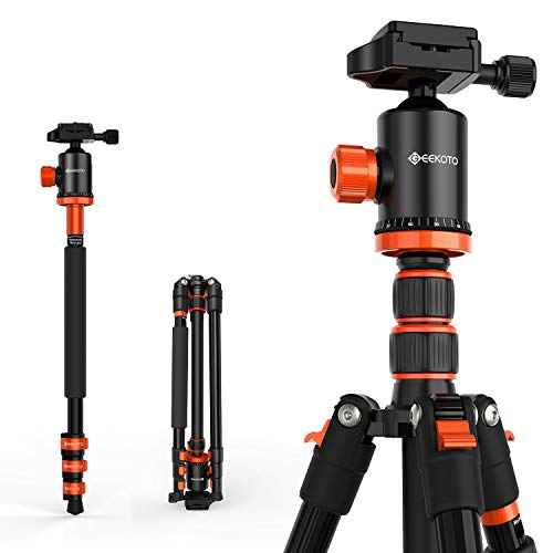 GEEKOTO AT24EVO Aluminum Tripod, 77in Camera Tripod for DSLR, Compact...