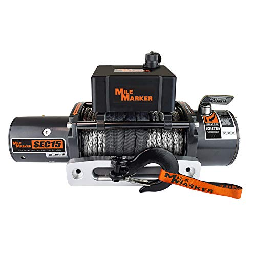 Mile Marker SEC15 15000 Pound Jeep/Truck/SUV Electric Winch with...