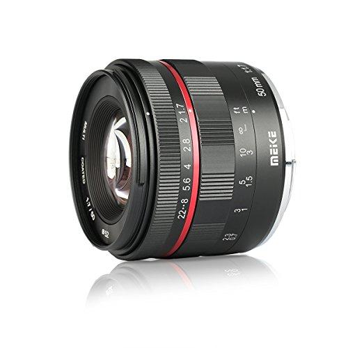 Meike 50mm F1.7 Full Frame Large Aperture Manual Focus Lens for Sony...