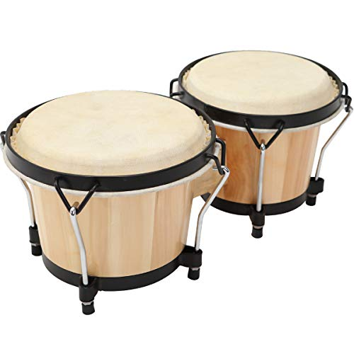 "MUSICUBE Bongo Drum Set, 2 Sets 6"" and 7"" Percussion Instrument,..."