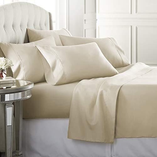6 Piece Hotel Luxury Soft 1800 Series Premium Bed Sheets Set, Deep...