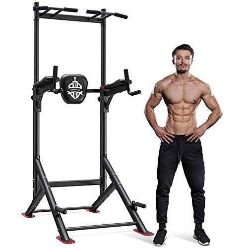 Sportsroyals Power Tower Pull Up Dip Station Adjustable Multi-Function...