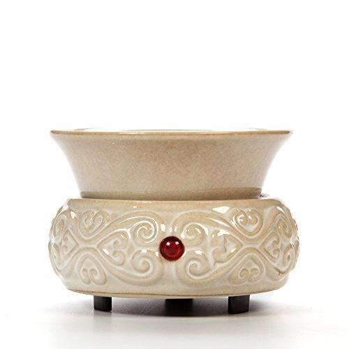 Hosley Cream Ceramic Electric Wax Warmer Ideal for Spa and...