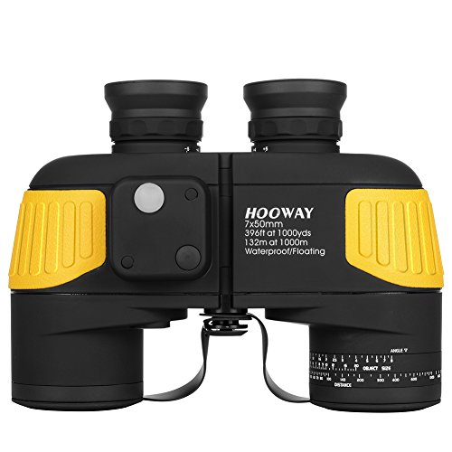 Hooway 7x50 Waterproof Fogproof Military Marine Binoculars w/Internal...