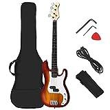Costzon Full Size Electric 4 String Bass Guitar for Beginner Starter...