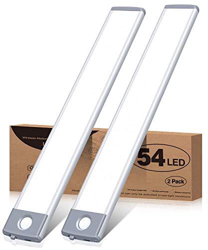 Motion Sensor Closet Light 54 LED Under Cabinet Night Lighting,...