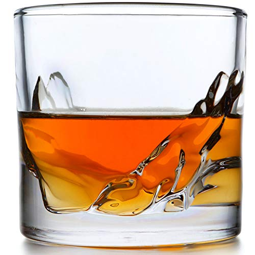 LIITON Grand Canyon Whiskey Glass Set of 4: Heavy Whisky Tumbler Best...