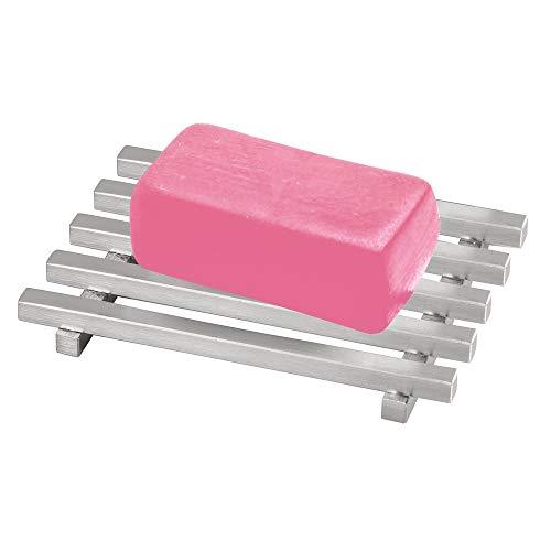 iDesign Kyoto Rectangular Soap Saver, Bar Holder Grid Tray for...